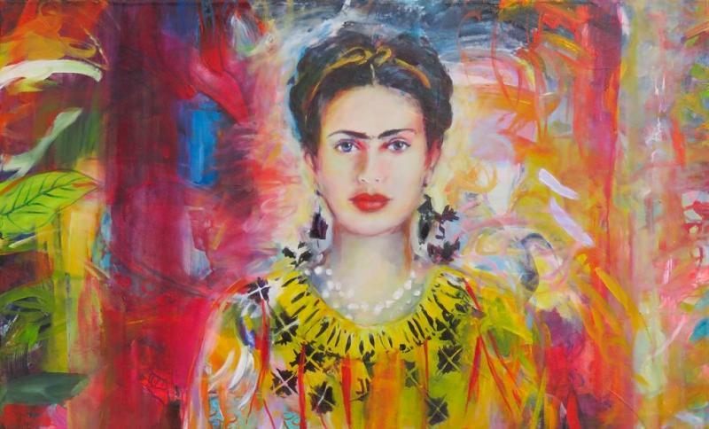 Körper Farben Emotionen - Großformatige Acrylmalerei