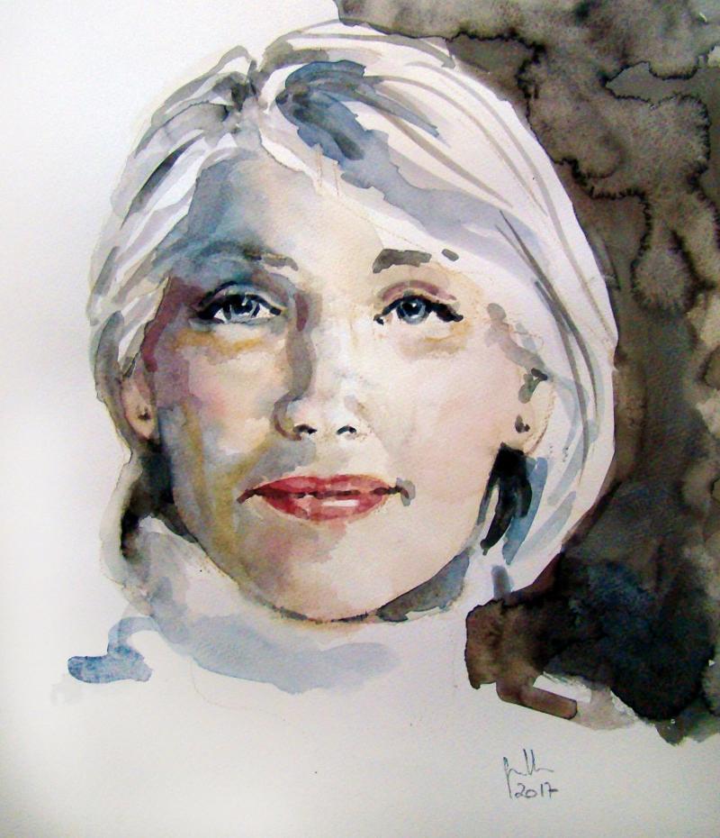 Porträt in Aquarelll