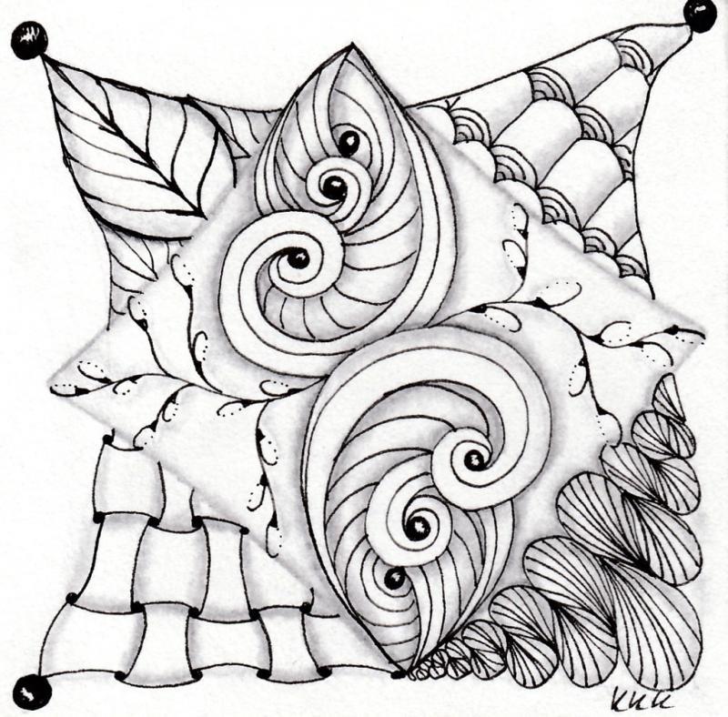 Zentangle® Basiskurs – in die Entspannung zeichnen