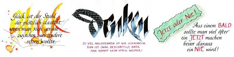 Kalligrafische Textgestaltung