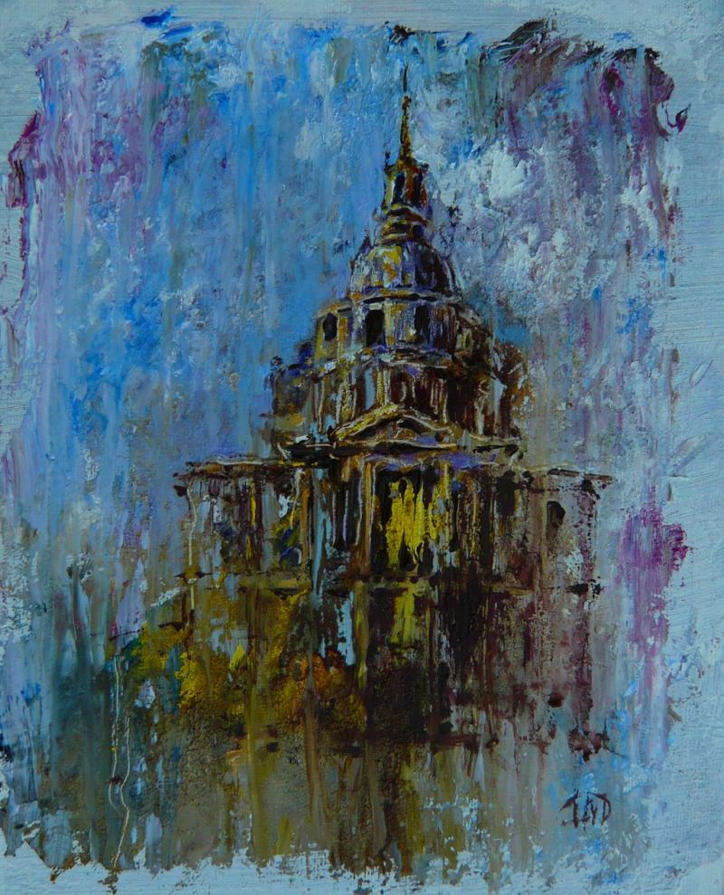 Architekturmalerei in Öl