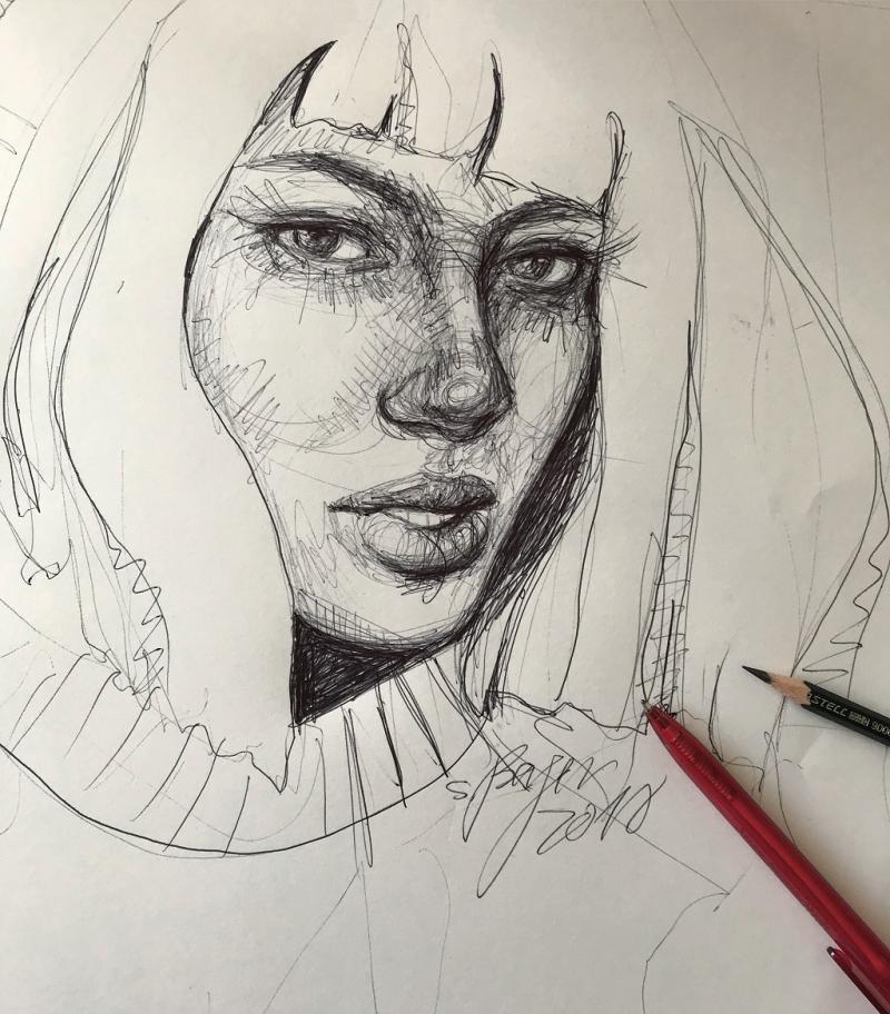 Porträt Skizzen